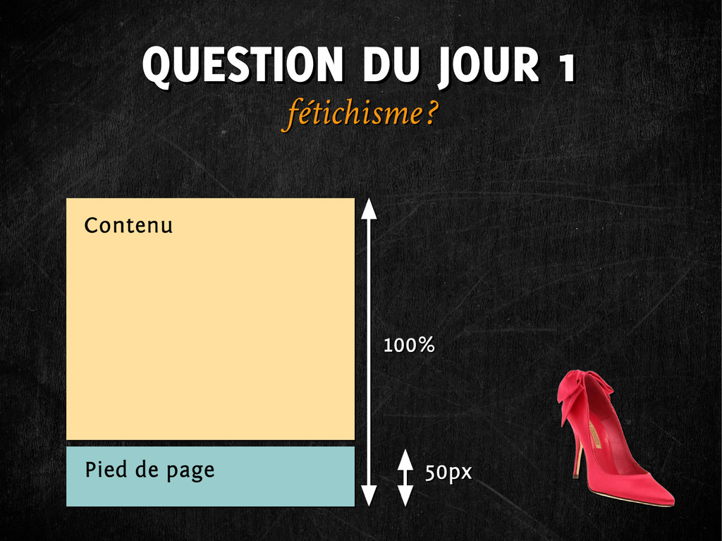 QUESTION DU JOUR 1 QUESTION DU JOUR 1 fétichism...