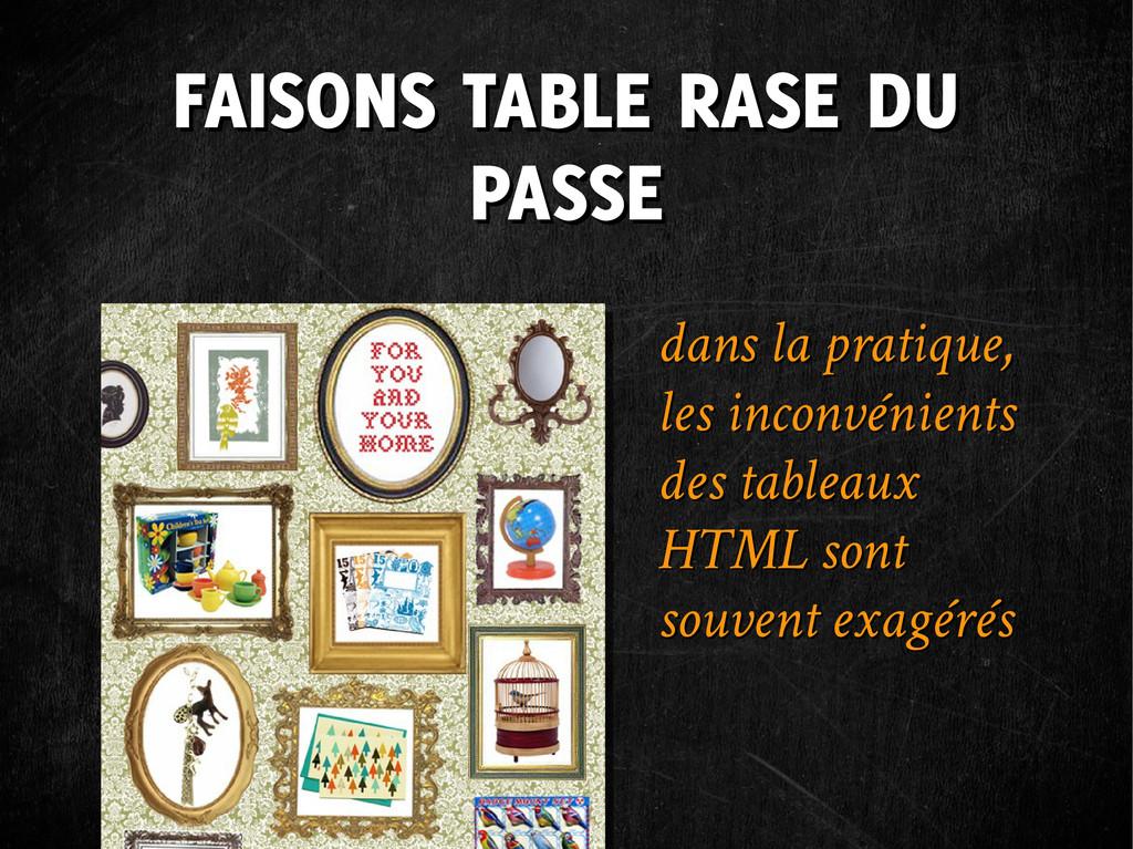 FAISONS TABLE RASE DU PASSE FAISONS TABLE RASE ...
