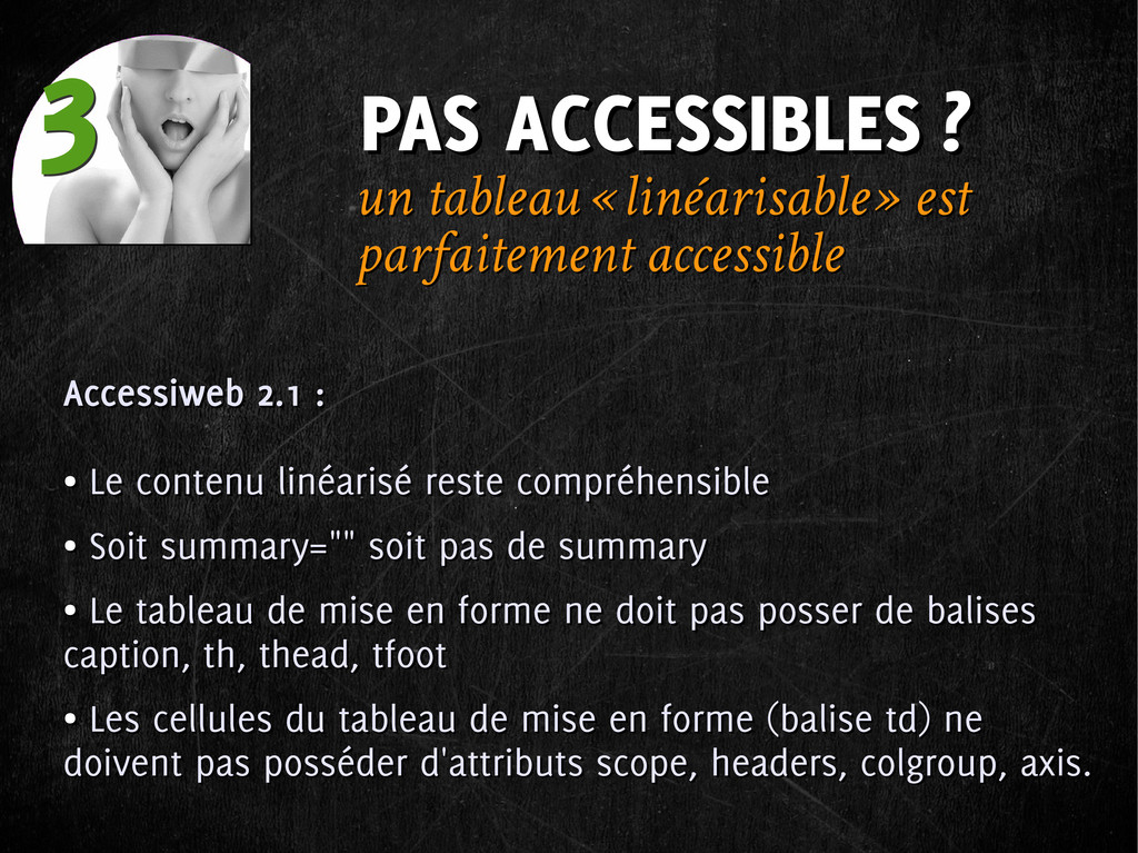 PAS ACCESSIBLES ? PAS ACCESSIBLES ? 3 3 Accessi...