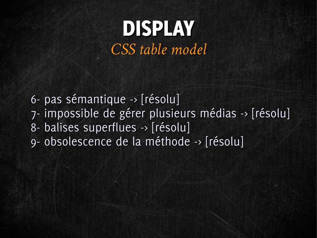 DISPLAY DISPLAY CSS table model CSS table model...