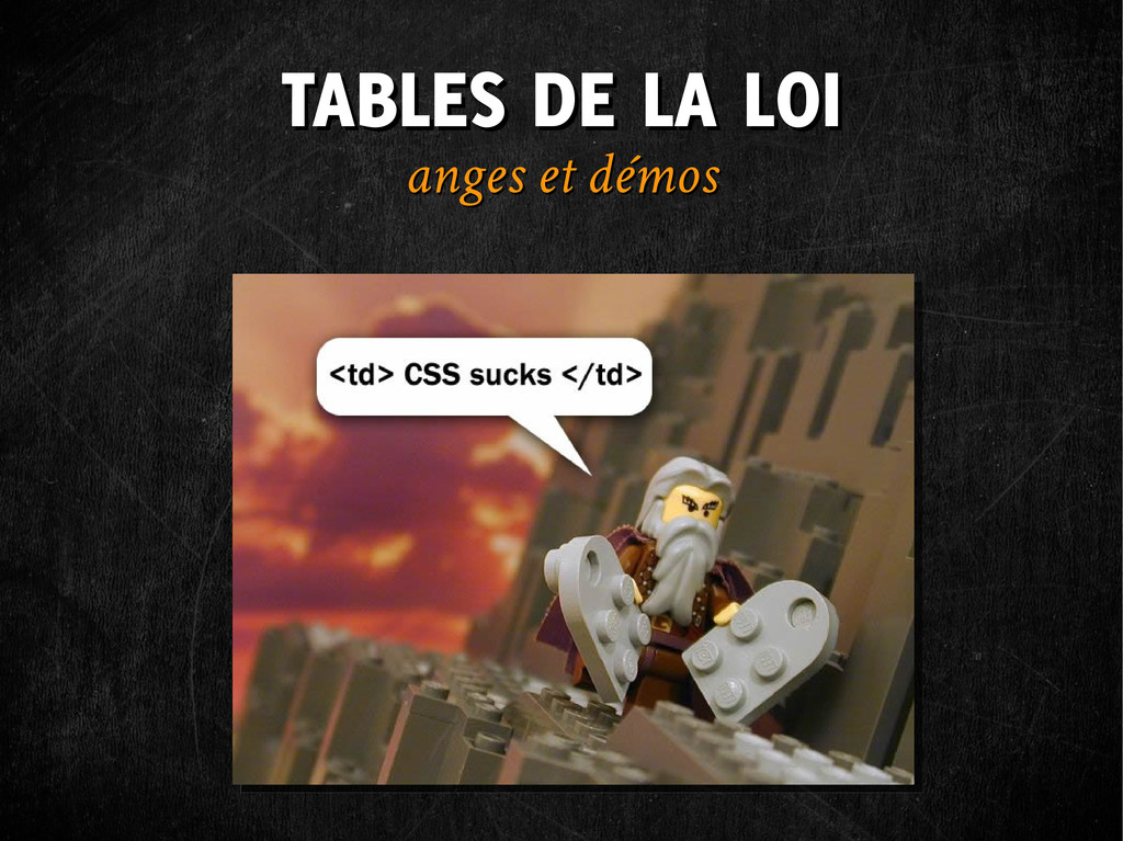 TABLES DE LA LOI TABLES DE LA LOI anges et démo...