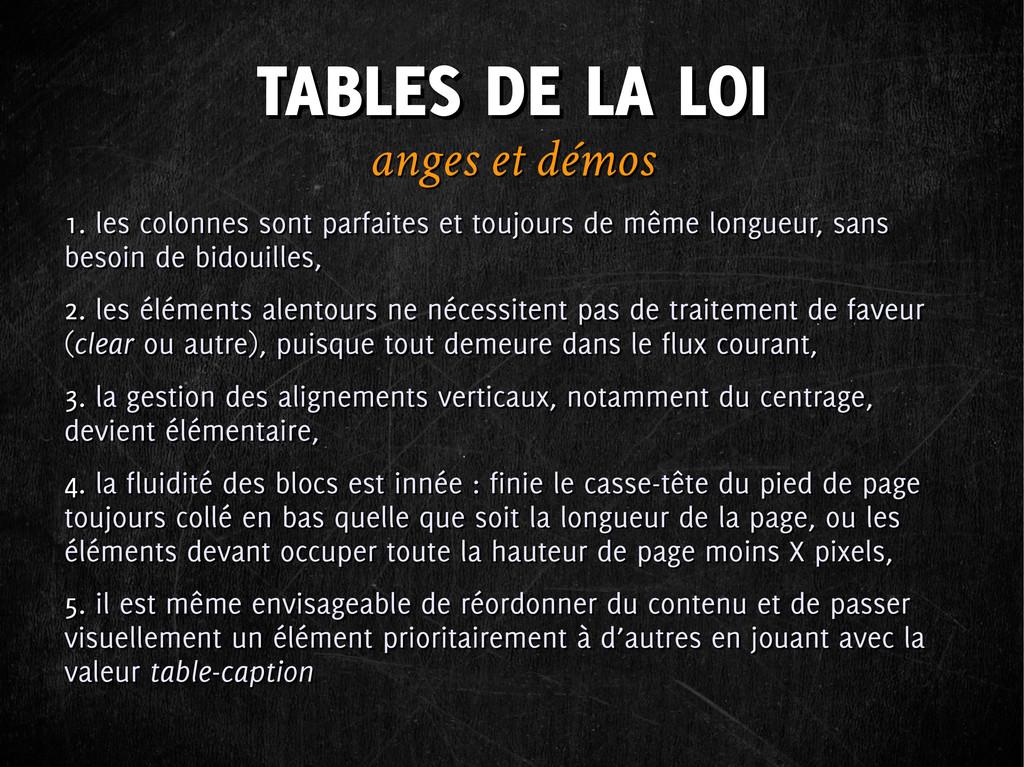 TABLES DE LA LOI TABLES DE LA LOI anges et démo...