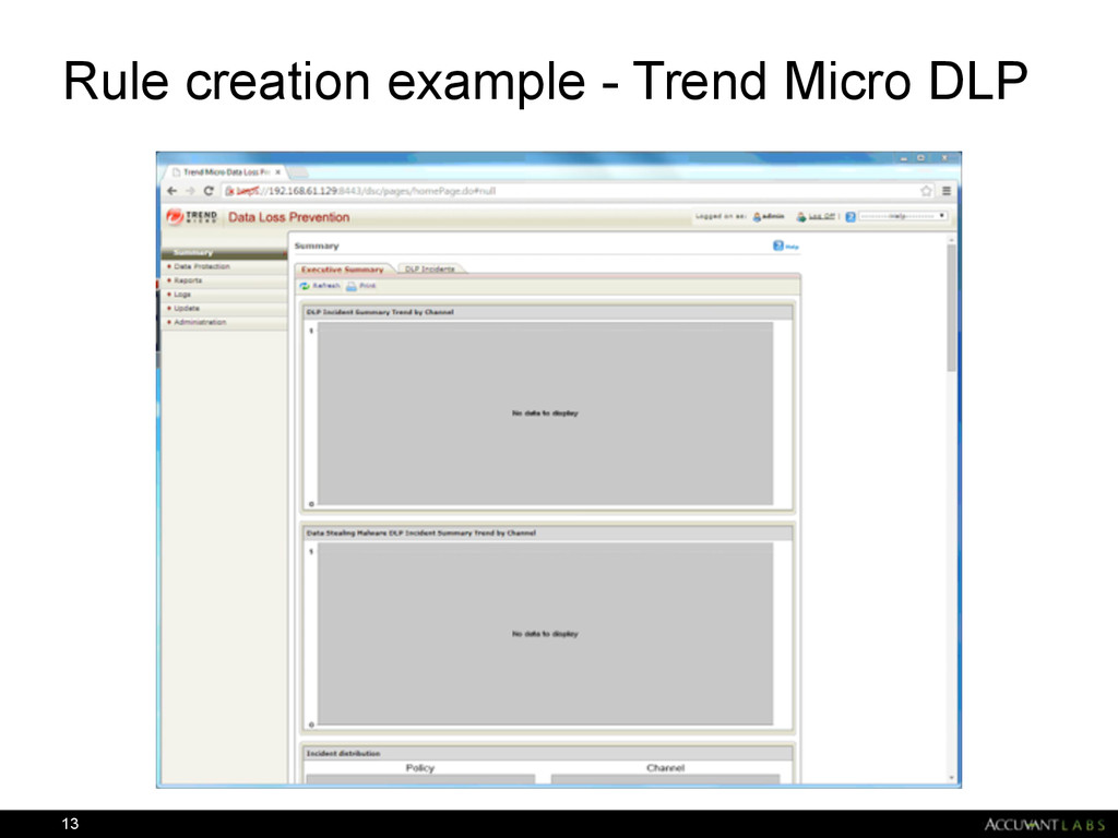 Rule creation example - Trend Micro DLP 13