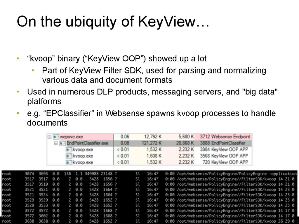 """On the ubiquity of KeyView… • """"kvoop"""" binary (""""..."""