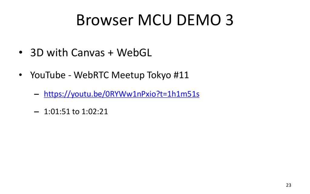 Browser MCU DEMO 3 • 3D with Canvas + WebGL • Y...