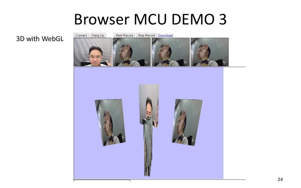 Browser MCU DEMO 3 24 3D with WebGL