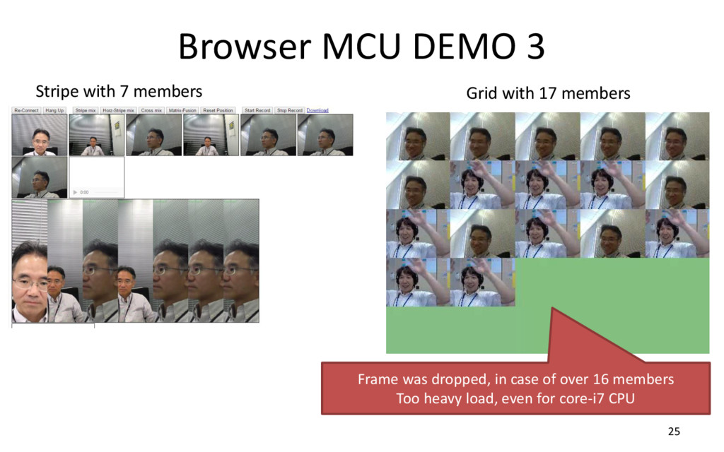 Browser MCU DEMO 3 25 Stripe with 7 members Gri...