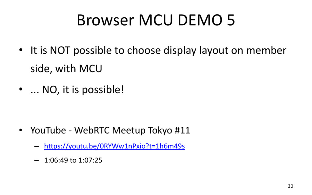 Browser MCU DEMO 5 • It is NOT possible to choo...
