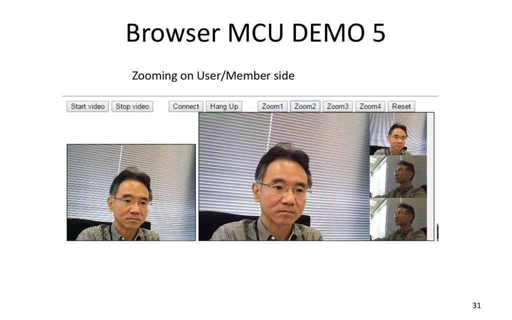 Browser MCU DEMO 5 31 Zooming on User/Member si...