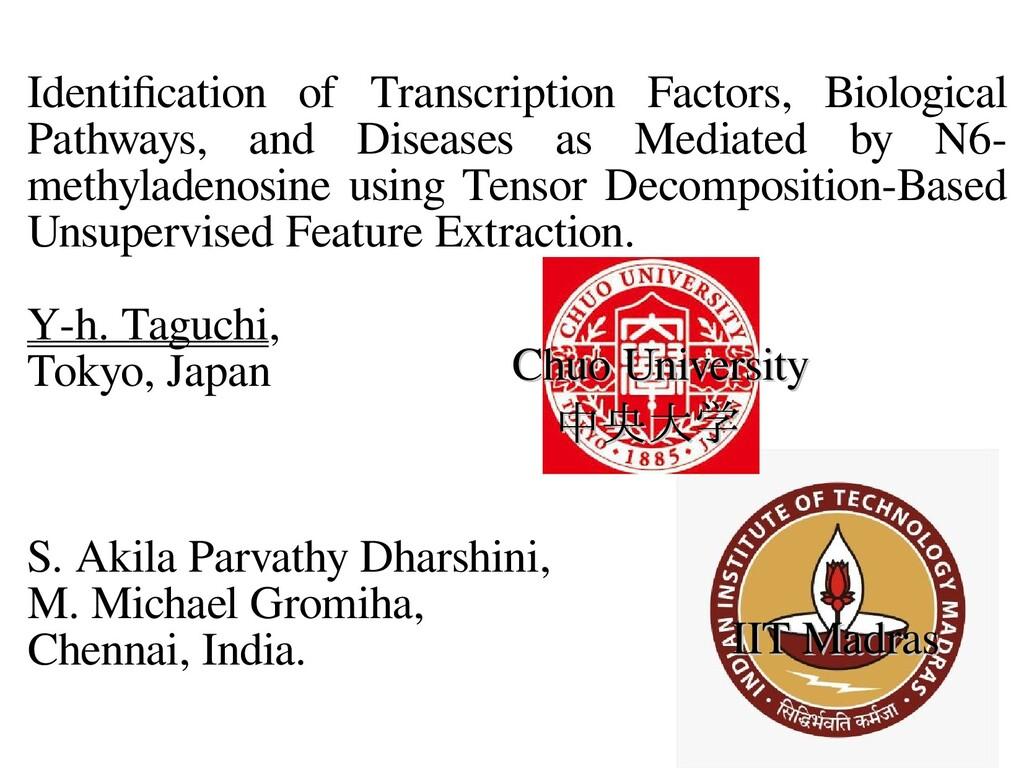 Identification of Transcription Factors, Biolog...