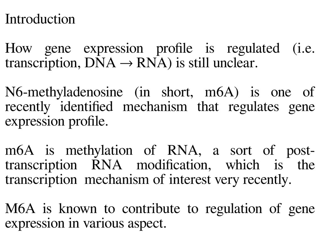 Introduction How gene expression profile is reg...