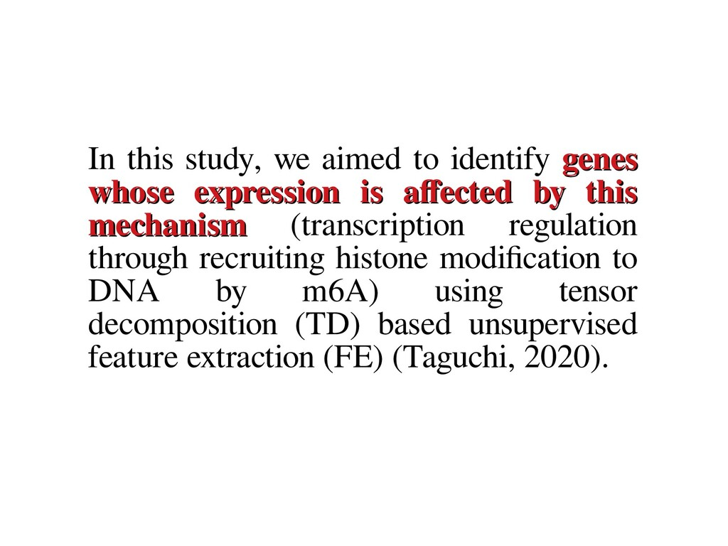 In this study, we aimed to identify genes genes...
