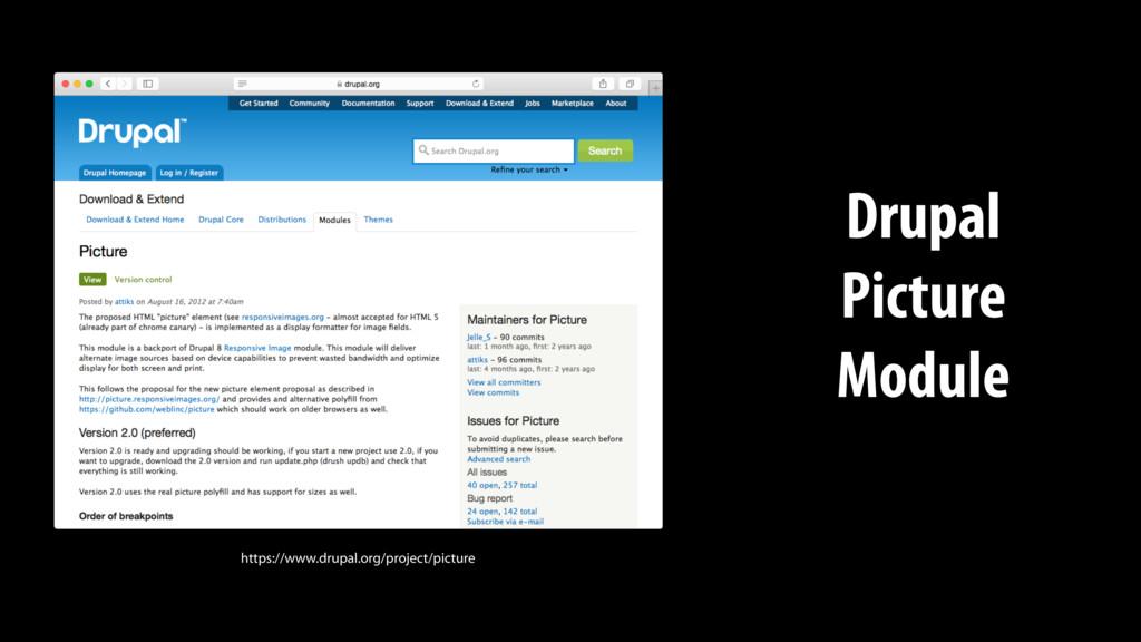https://www.drupal.org/project/picture Drupal P...