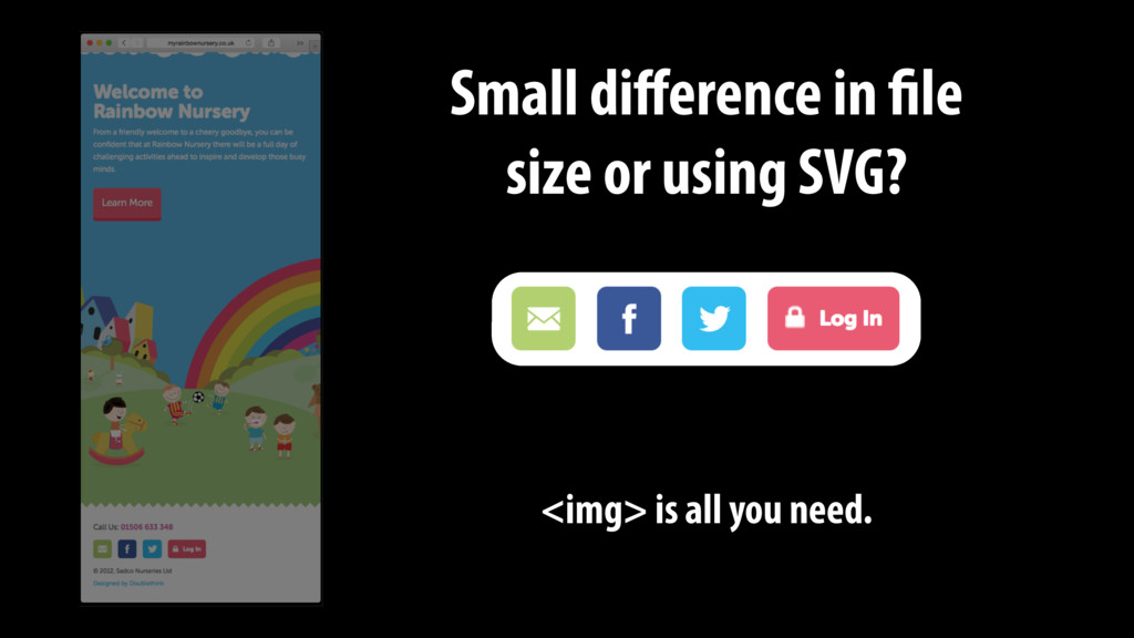 Small difference in file size or using SVG? <img...