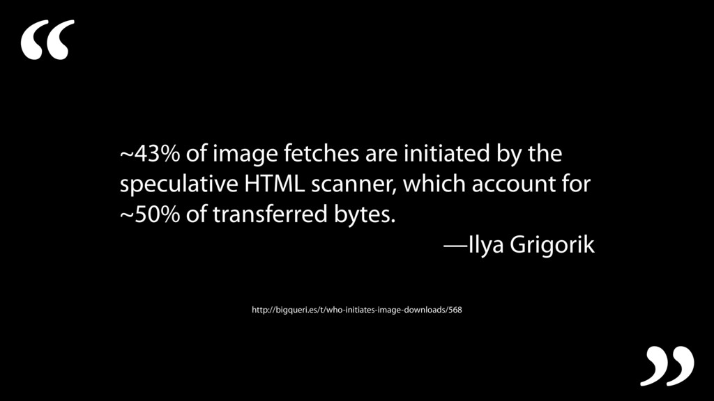 ~43% of image fetches are initiated by the spec...