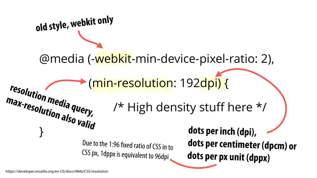 old style, webkit only resolution media query, ...