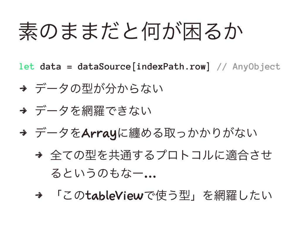 ૉͷ··ͩͱԿ͕ࠔΔ͔ let data = dataSource[indexPath.row...