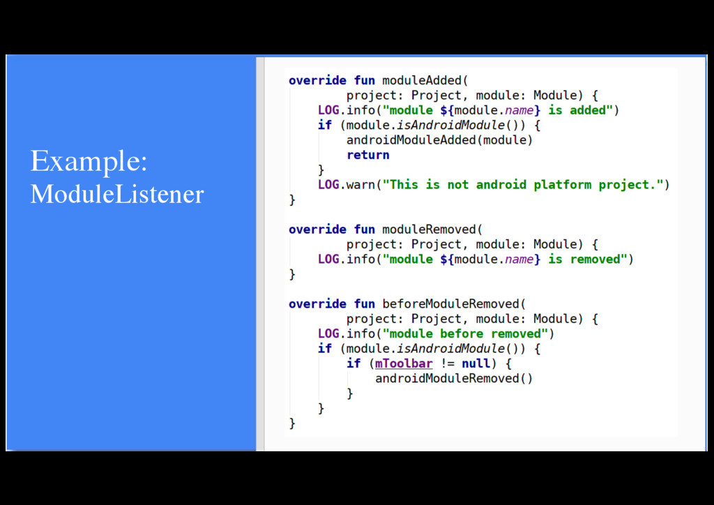 Example: ModuleListener