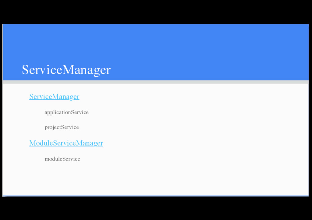 ServiceManager ServiceManager applicationServic...