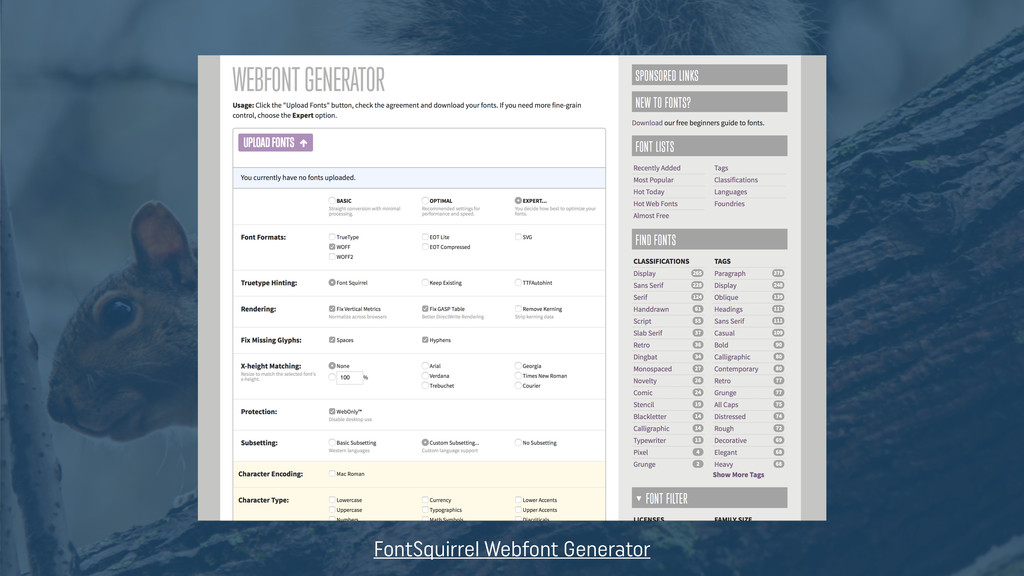 FontSquirrel Webfont Generator