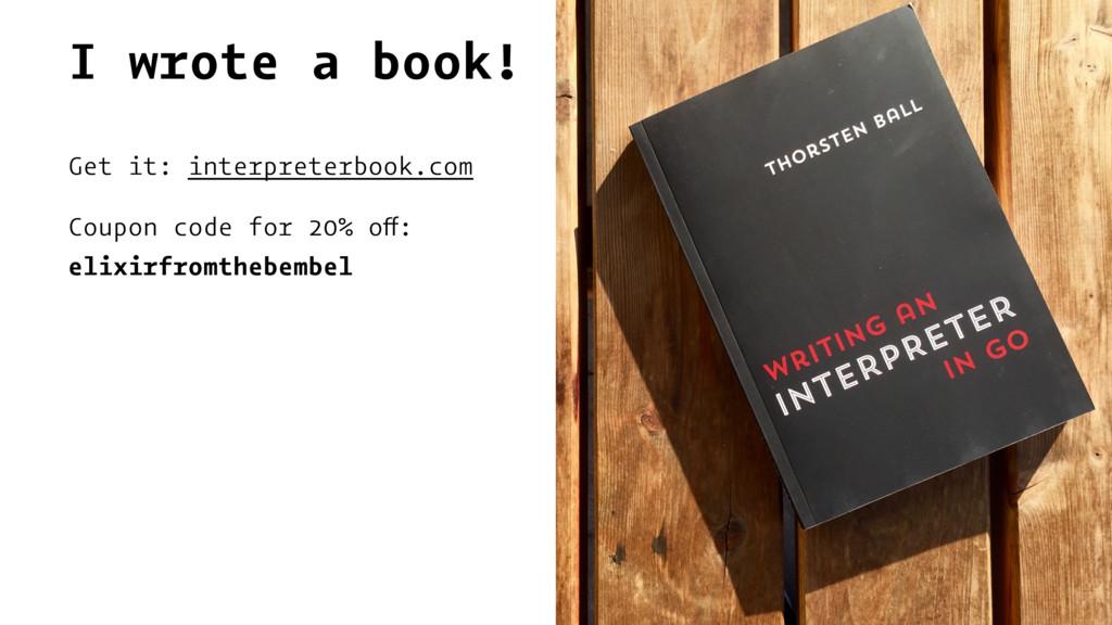 I wrote a book! Get it: interpreterbook.com Cou...