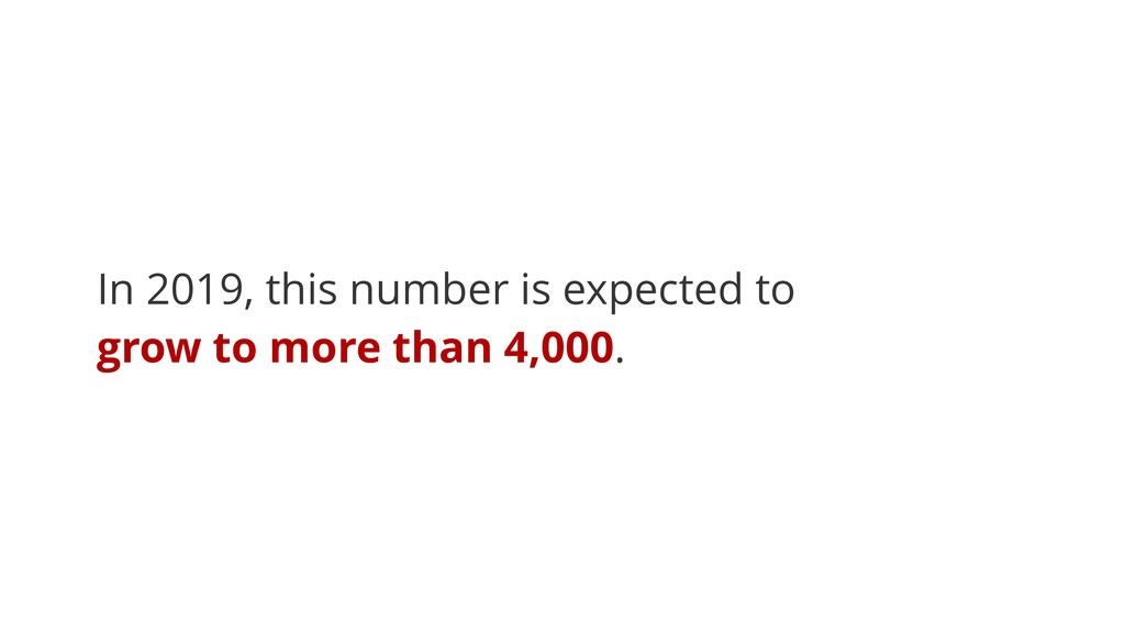 In 2019, this number is expected to grow to mor...