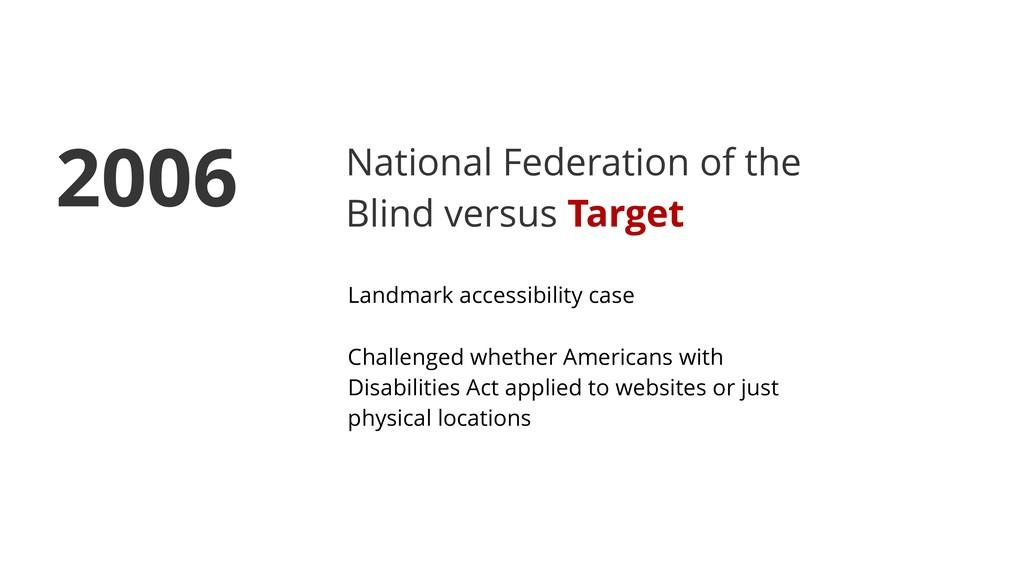National Federation of the Blind versus Target ...