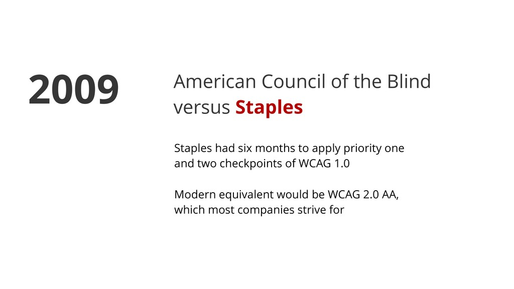 American Council of the Blind versus Staples St...