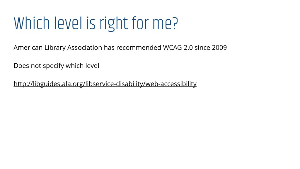 Which level is right for me? American Library A...