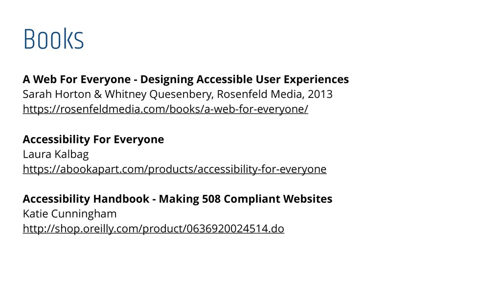 Books A Web For Everyone - Designing Accessible...