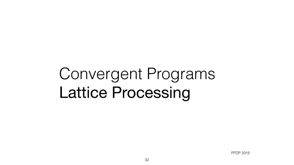 Convergent Programs Lattice Processing 32 PPDP ...