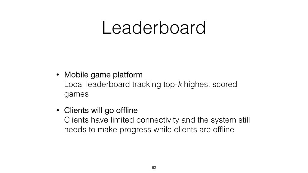 Leaderboard • Mobile game platform