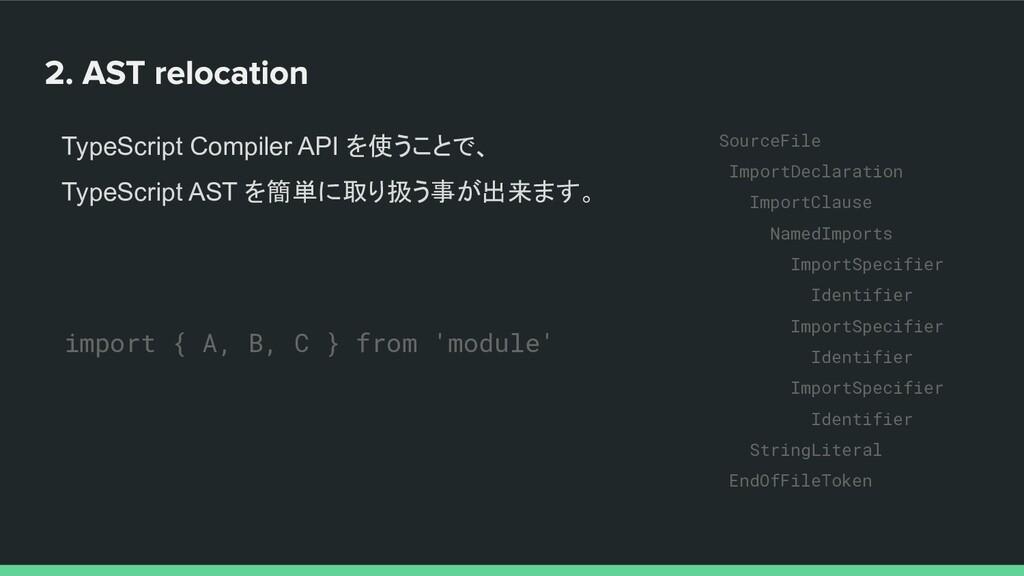 TypeScript Compiler API を使うことで、 TypeScript AST ...