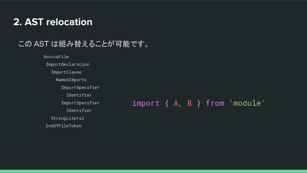 この AST は組み替えることが可能です。 SourceFile ImportDeclarat...