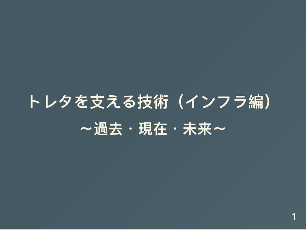 トレタを支える技術(インフラ編) 〜過去・現在・未来〜 1