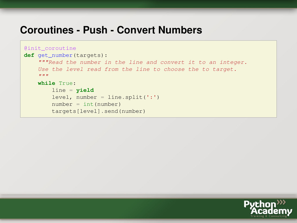 Coroutines - Push - Convert Numbers @init_corou...