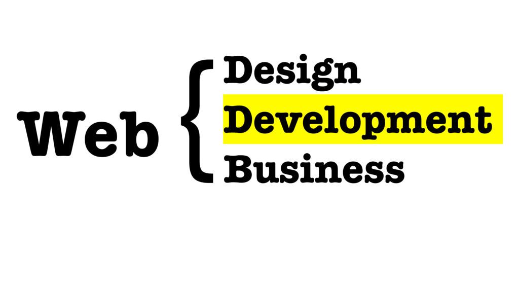 Design Development Business Web {