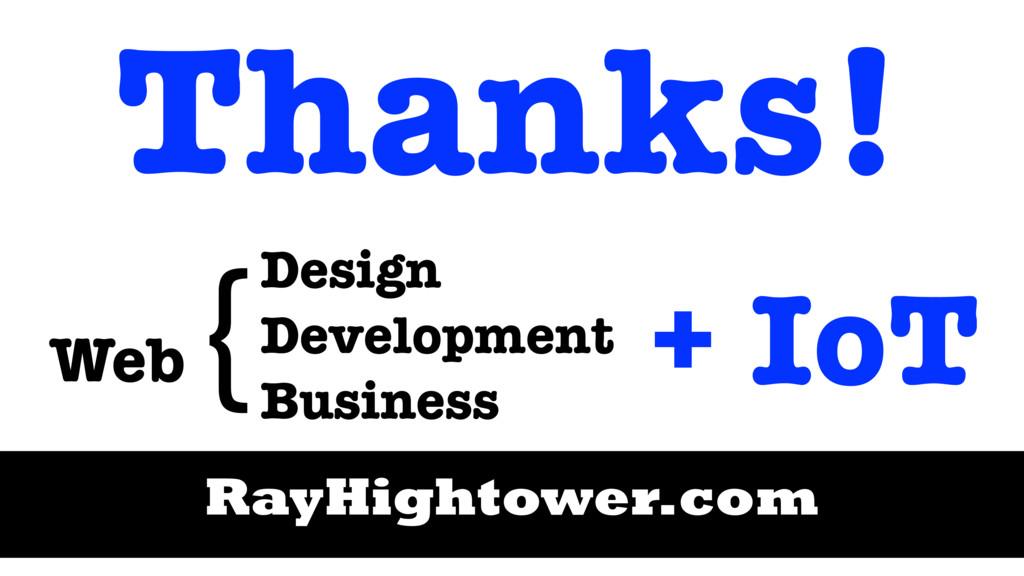 Design Development Business Web { Thanks! RayHi...