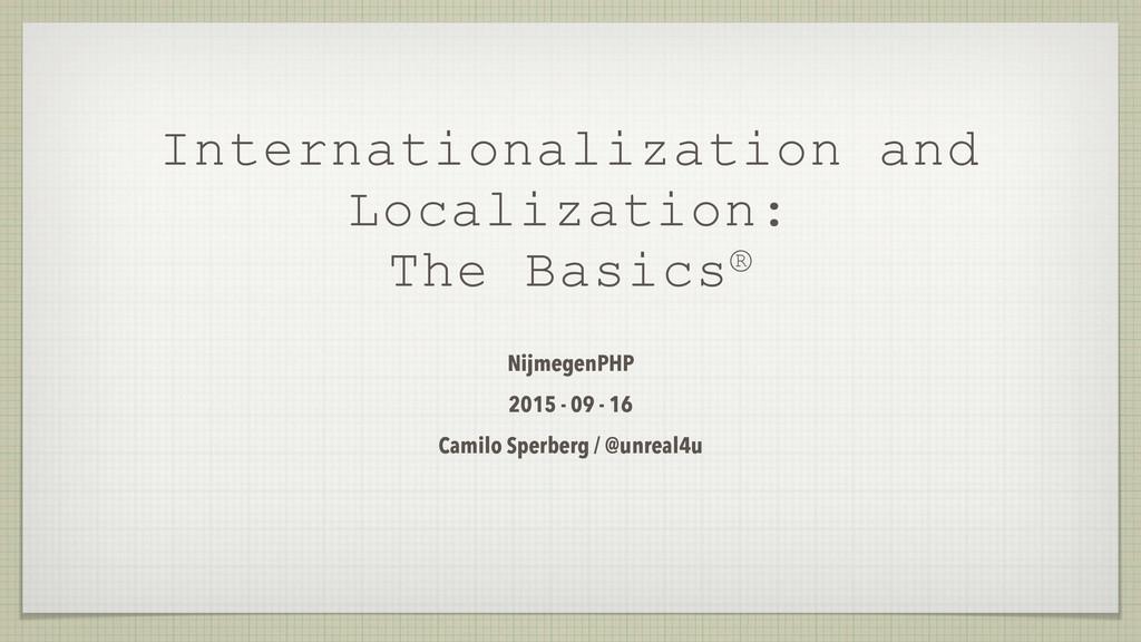Internationalization and Localization: The Basi...