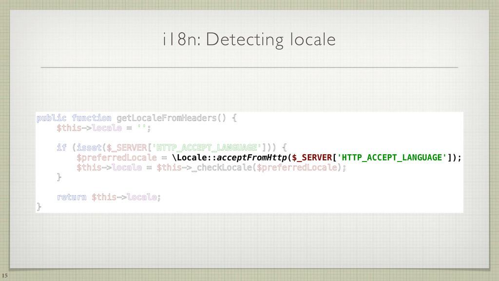 i18n: Detecting locale 15 public function getLo...