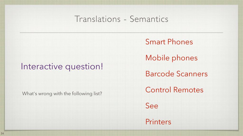 Translations - Semantics 24 Smart Phones Mobile...