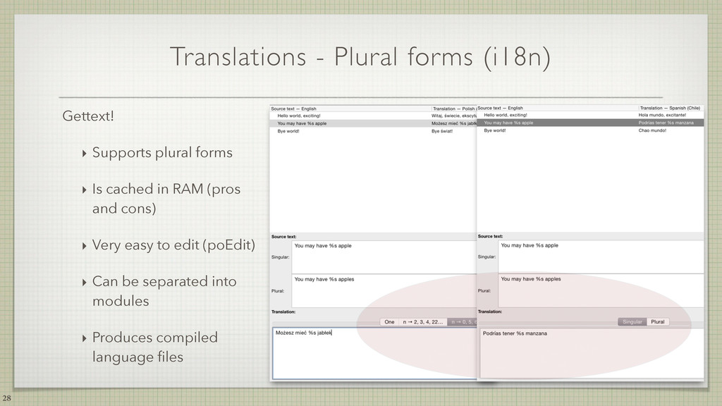 Translations - Plural forms (i18n) 28 Gettext! ...