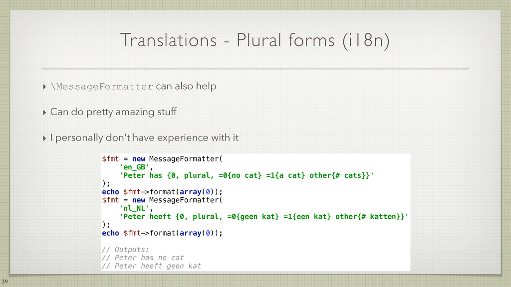 Translations - Plural forms (i18n) ‣ \MessageFo...