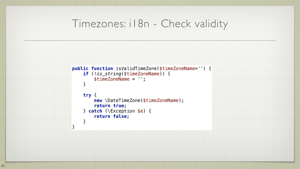 Timezones: i18n - Check validity 45 public func...