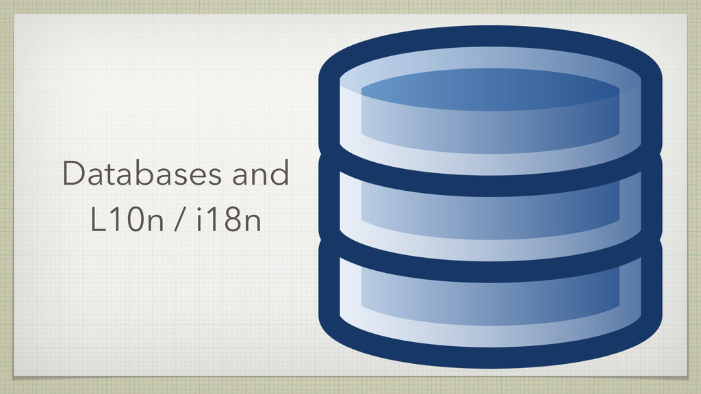 Databases and L10n / i18n