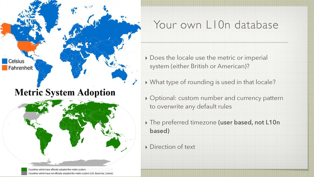 Your own L10n database ‣ Does the locale use th...