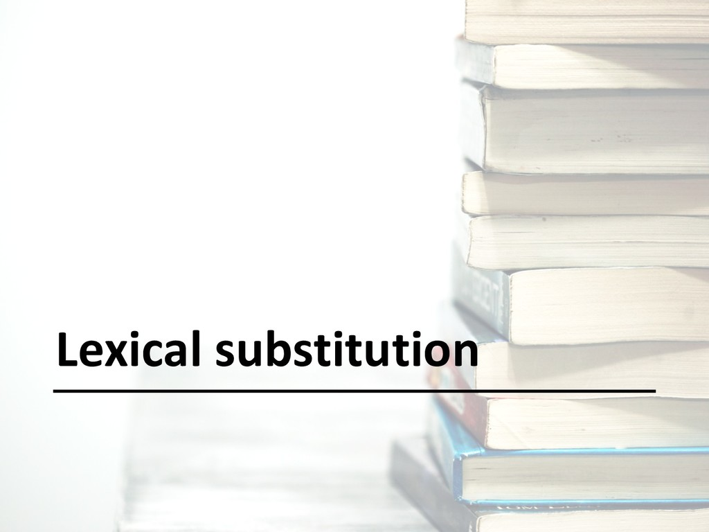 Lexical substitution