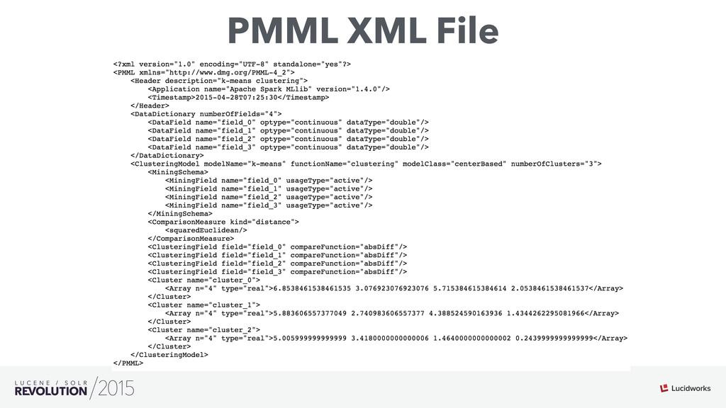 PMML XML File
