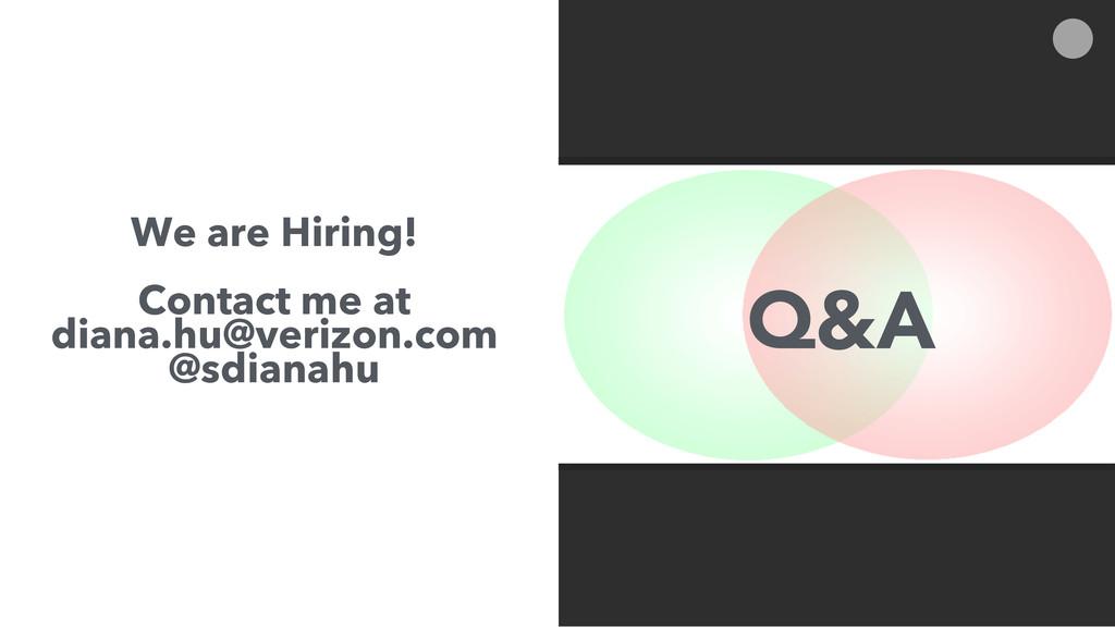 We are Hiring! Contact me at diana.hu@verizon.c...