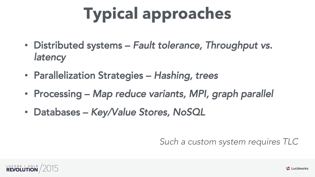 Typical approaches • Distributed systems – Fau...